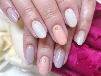 浜松のジェルネイル ナチュレ 3色ネイル